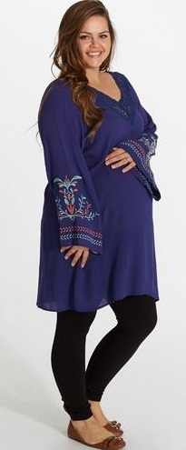 Blue Maternity Tunic