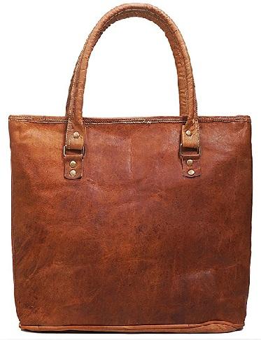 Brown Genuine Leather Shoulder Handmade Bag -10