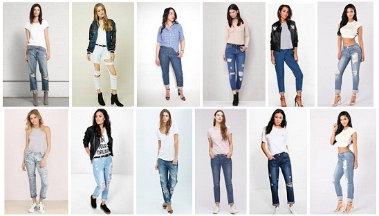 casual and stylish boyfriend jeans for women