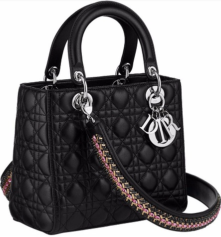 christian-dior-lady-bag-with-embellished-strap