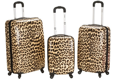 Cute Cheetah Print Luggage Suitcase -24