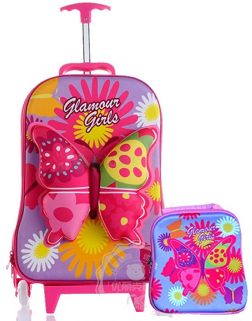 Cute Wheeled Travel Bags for Girls -9
