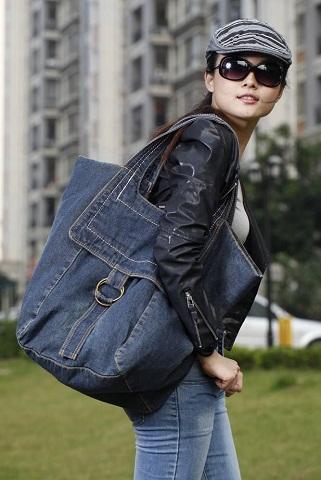 Denim Travel Bags for Women -16