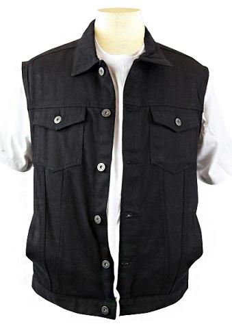 Denim black vest