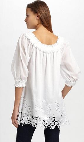 Designer White Tunic