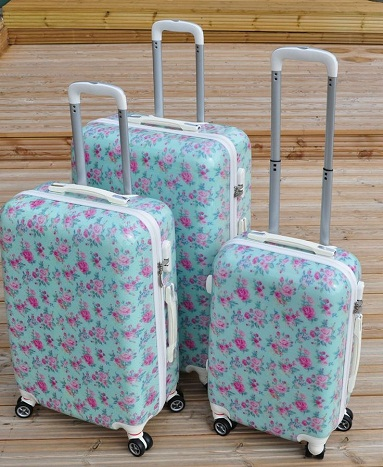 Floral Print Trolley Bag -8
