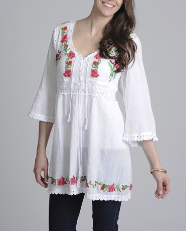 Floral design tunic7