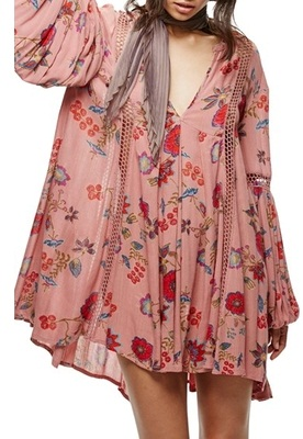Free People Floral Long Tunic