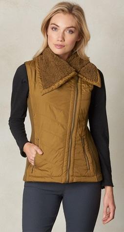 Furry Collar Look Vest