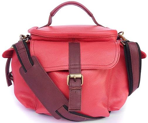Genuine Leather Bag for Sony Alpha NEX-5T 16.1MP DSLR Camera (#MN_PINK) -9