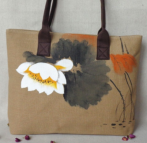 Hand painted Cloth Bag