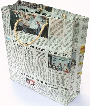Handmade Newspaper Bags