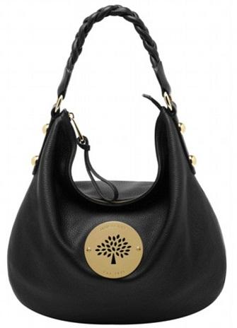Hobo Style Black Mulberry Handbag