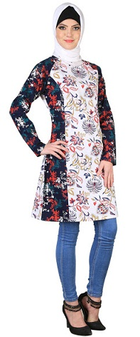28b3f7951aa Islamic Tunic is very much in demand in Islamic States. Muslim women wear  it with a scarf or stall. It looks good with slim fit jeans.
