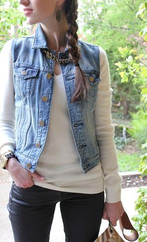 Jeans Vest Top
