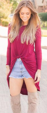 Knot Up Party Wear Tunic