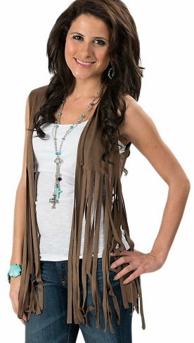 Ladies Fringe Vest