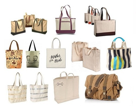 Large and Small Sized Canvas Bags and Its Uses