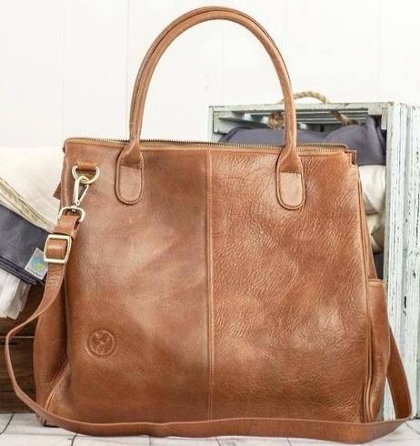 Leather Diaper Bag