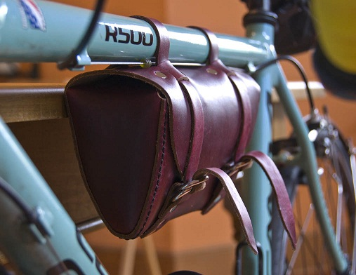Leather Saddle Bags for Bikes