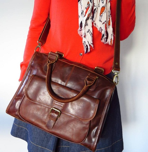 Leather Women Satchel Bag