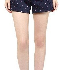 Mama Couture - Navy Blue with Pink Dots Shorts