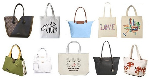 Modern Canvas and leather Tote Bags for Women