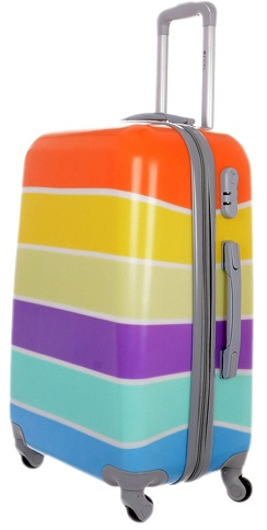 Multicolour Trolley Bag for Girls -14