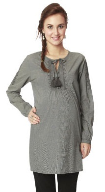 Nine Maternity Tunic in Gray