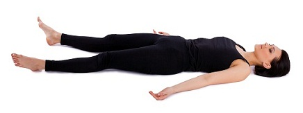 Performing Steps For Shavasana or Corpse Pose