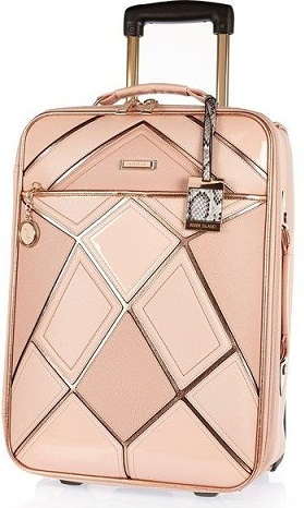 Pink Patch work Luggage Bag -25