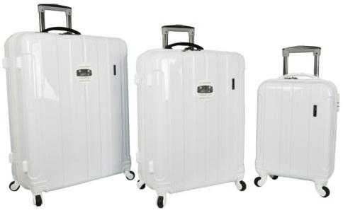 Pure White Hard Shell Trolley Bag -25
