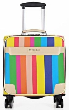 Rainbow Luggage Bag with Wheels -9
