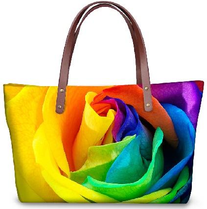 Rose Printed Fancy Handbag