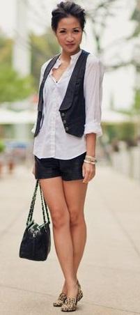 Short Black Vest