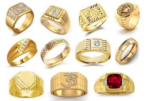 25 Simple and Heavy Indian Gold Rings Designs for Men 2017