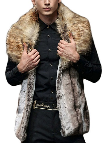 Sleeveless Fur Vest Jacket