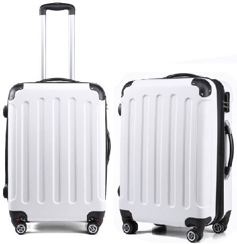 Sparking white Luggage Bag -2