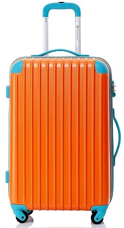 Stunning Orange and Blue Luggage Bag for Teenagers -7