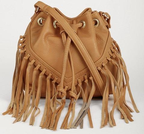 Tassel Drawstring Closure Sling Bag -12