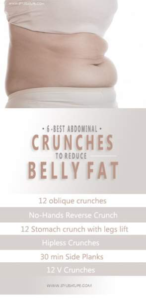 ab crunches for flat belly