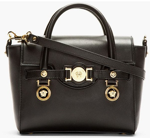 Versace Black Leather Bag
