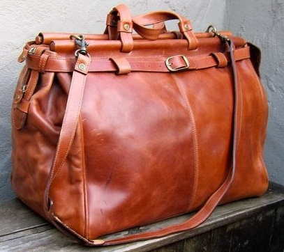 Vintage Leather Travel Bag -1
