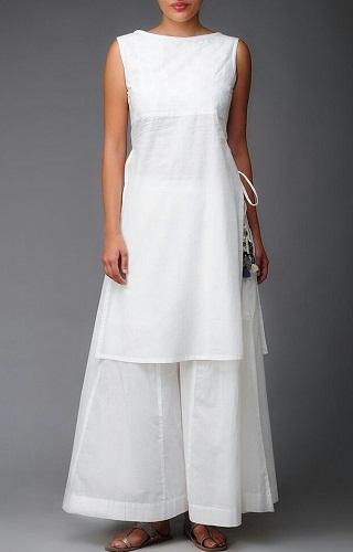 White plain tunic 2
