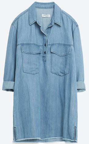 Zara Oversized Tunic Shirt