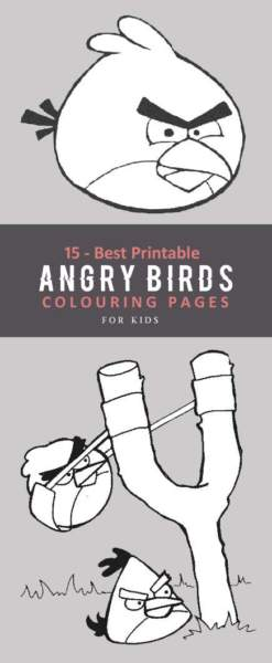 Angry Birds Colouring Pages