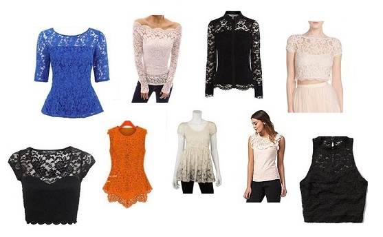 15 Best Styles of Women's Lace Tops in Fashion 2017