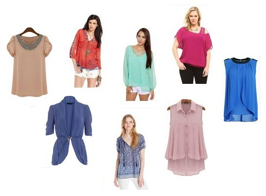 15 Latest Trend in Chiffon Tops for Girls in Fashion