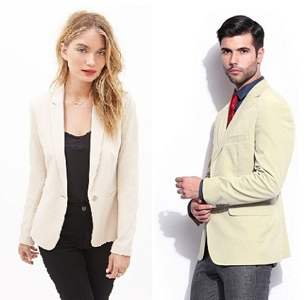 9 Attractive Designs of Cream Blazers in Fashion 2017