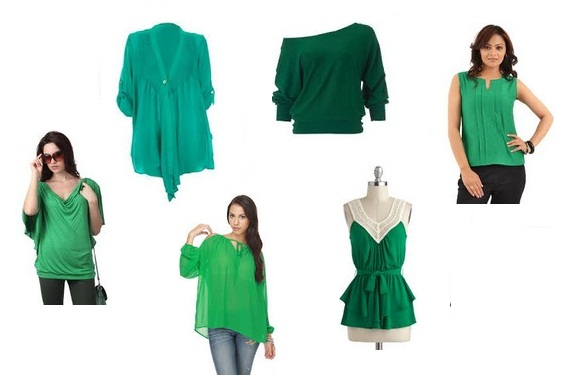 9 Delightful Latest Green Tops Designs for Women